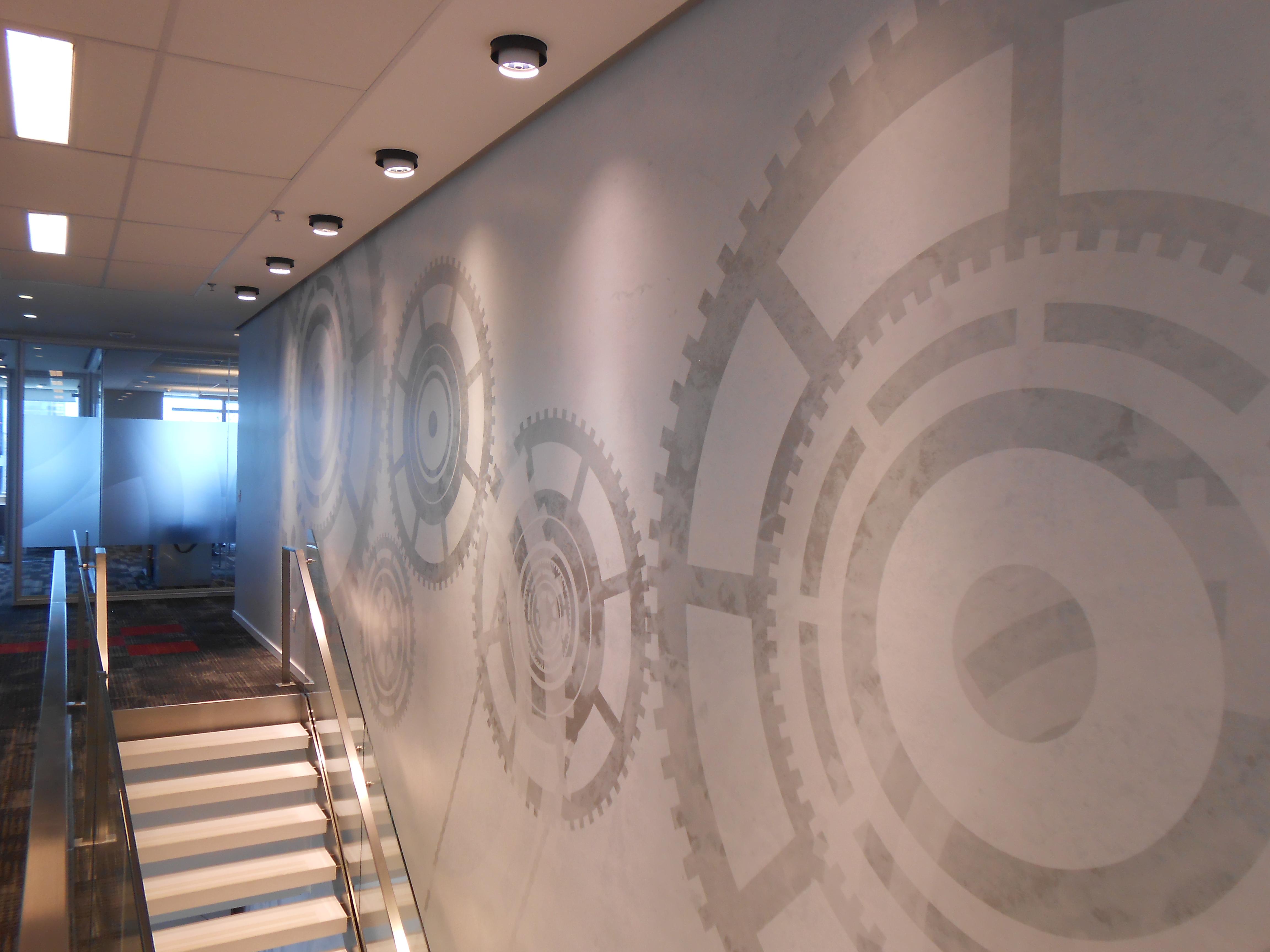 grafico en pared escalera