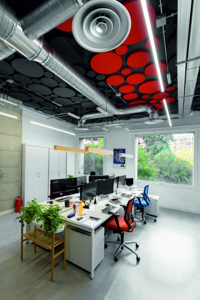 absorber eco en una oficina