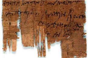soporte para escritura papiro